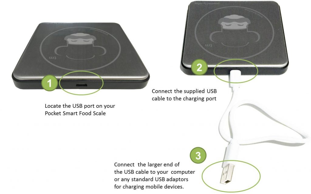 rechargeable food scale