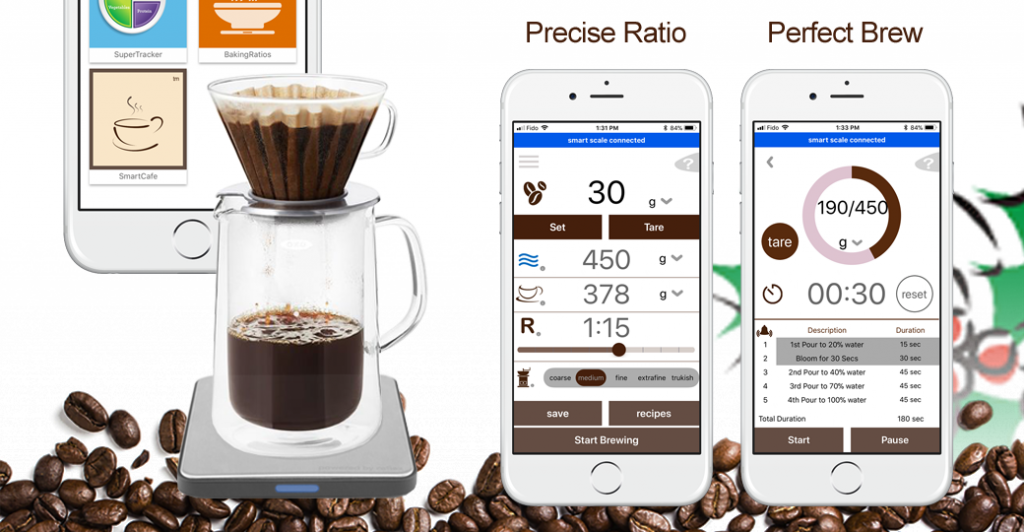 Smart Chef Scale Drip Coffee Making