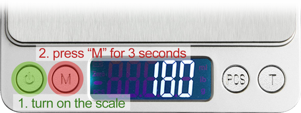 Calibrate RX402b Smart Chef Scale