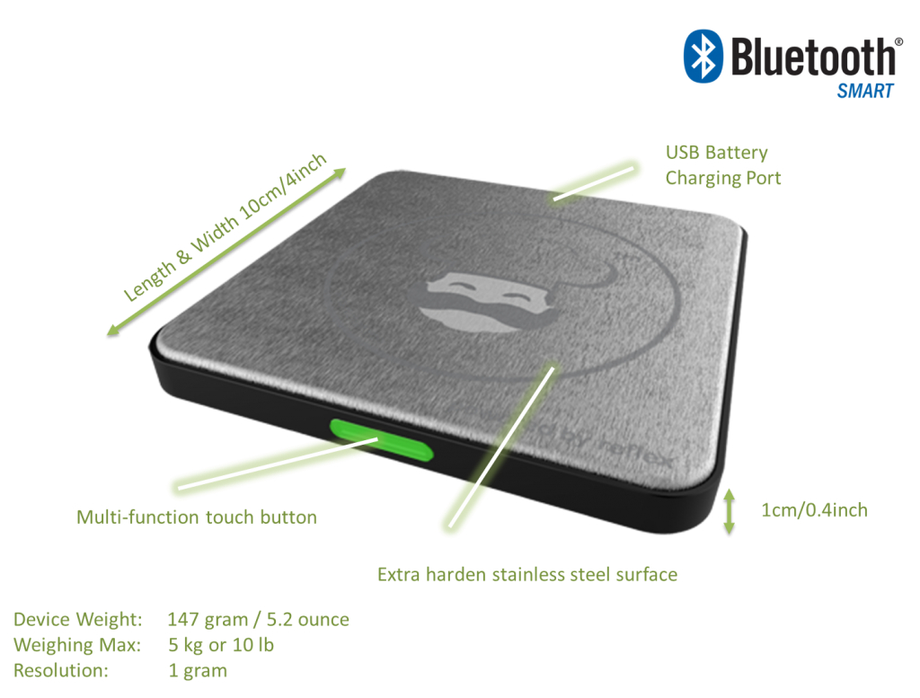 smart chef pocket smart food scale specifications