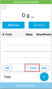 tracking smartpoints to weight watchers