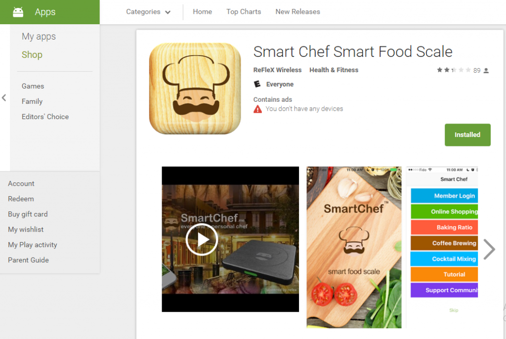 Smart Food Scale Android