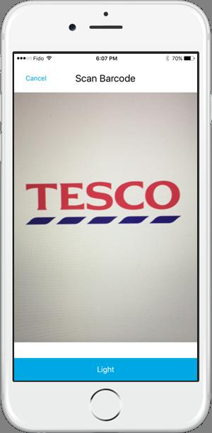 Smart Chef TESCO Barcode Scan