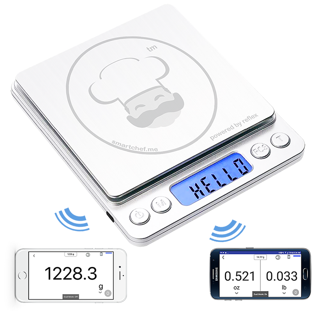 smart chef scale pull out display